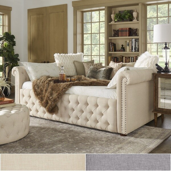 chesterfield pull out sofa bed white and loveseat set knightsbridge queen size tufted scroll arm ...