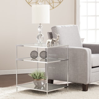natal chrome and glass sofa table ashley modelo barcelona silver coffee, console, & end tables for less ...