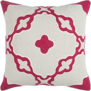 Rizzy Home Natural Cotton 20-inch x 20-inch Geometric Decorative Filled Throw Pillow