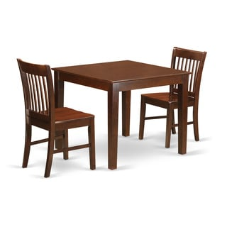 kitchen dinette outdoor frame kit buy 3 piece sets dining room online at overstock com oxno mah w mahogany set