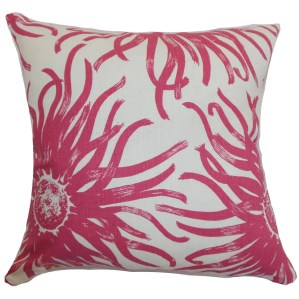 Ndele Floral 22-inch Down Feather Throw Pillow Rosewood