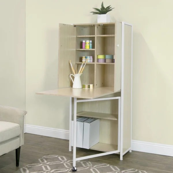 Shop Studio Designs Fold Out Craft And Sewing Machine Table Furniture Armoire Overstock 14414119