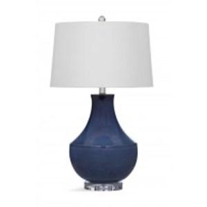 Bassett Mirror Company Kayley Blue Ceramic 32-inch Table Lamp