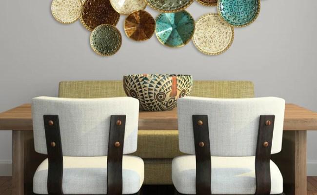 Stratton Home Multicolor Metal Plates Wall Decor Free