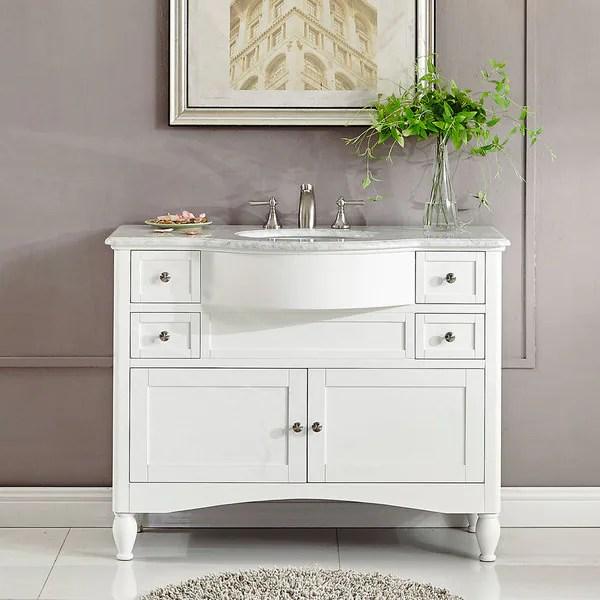 silkroad exclusive 45-inch contemporary bathroom vanity single