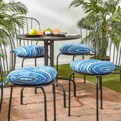16 Round Bistro Chair Cushions Foldable Gym Shop Havenside Home Colton Inch Outdoor Stripe Cushion Set Of 4