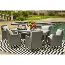 Handy Living Aldrich Grey Indoor Outdoor 7 Piece