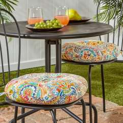 Round Chair Cushions 14 Inch Child Camping 15-inch Outdoor Bistro Cushion, Set Of 2 In Painted Paisley - Free Shipping On ...