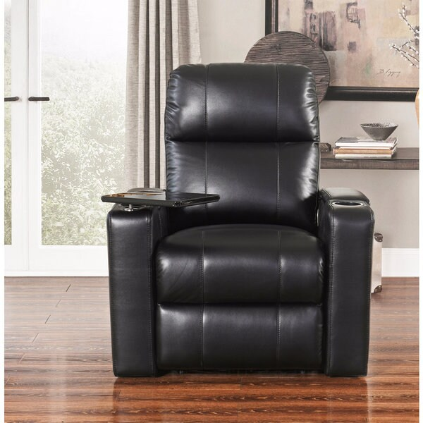abbyson living rocking chair sit ups rider black leather theatre recliner - free shipping today overstock.com 21020173