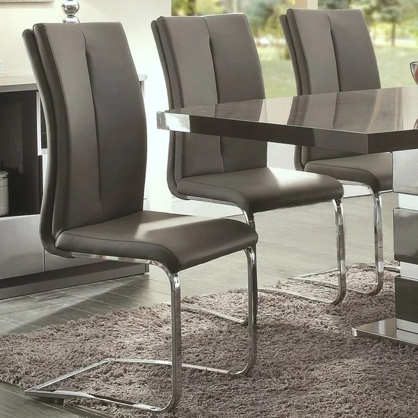 dining chairs italian design office chair philippines shop modern grey upholstered set of 2