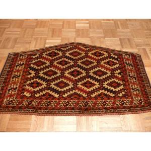 Hand Knotted Multi-Colored Fine Antique Yamout with Wool Oriental Rug - 2 x 3