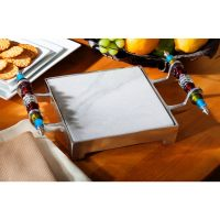 Shop Beaded Marble Cheese Serving Tray - Free Shipping ...