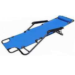Portable Reclining Chair Feet Caps Shop Blue Steel Dual Purposes Extendable Folding