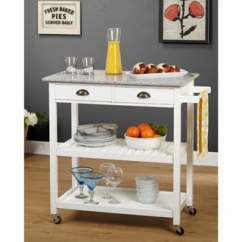Wheeled Kitchen Island Cupboard Buy Portable Islands Online At Overstock Com Our Best Simple Living Oregon 2 Drawer Rolling