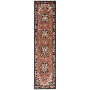 Ecarpetgallery Royal Heriz Brown Wool Hand-Knotted Rug (2'6 x 10'2)