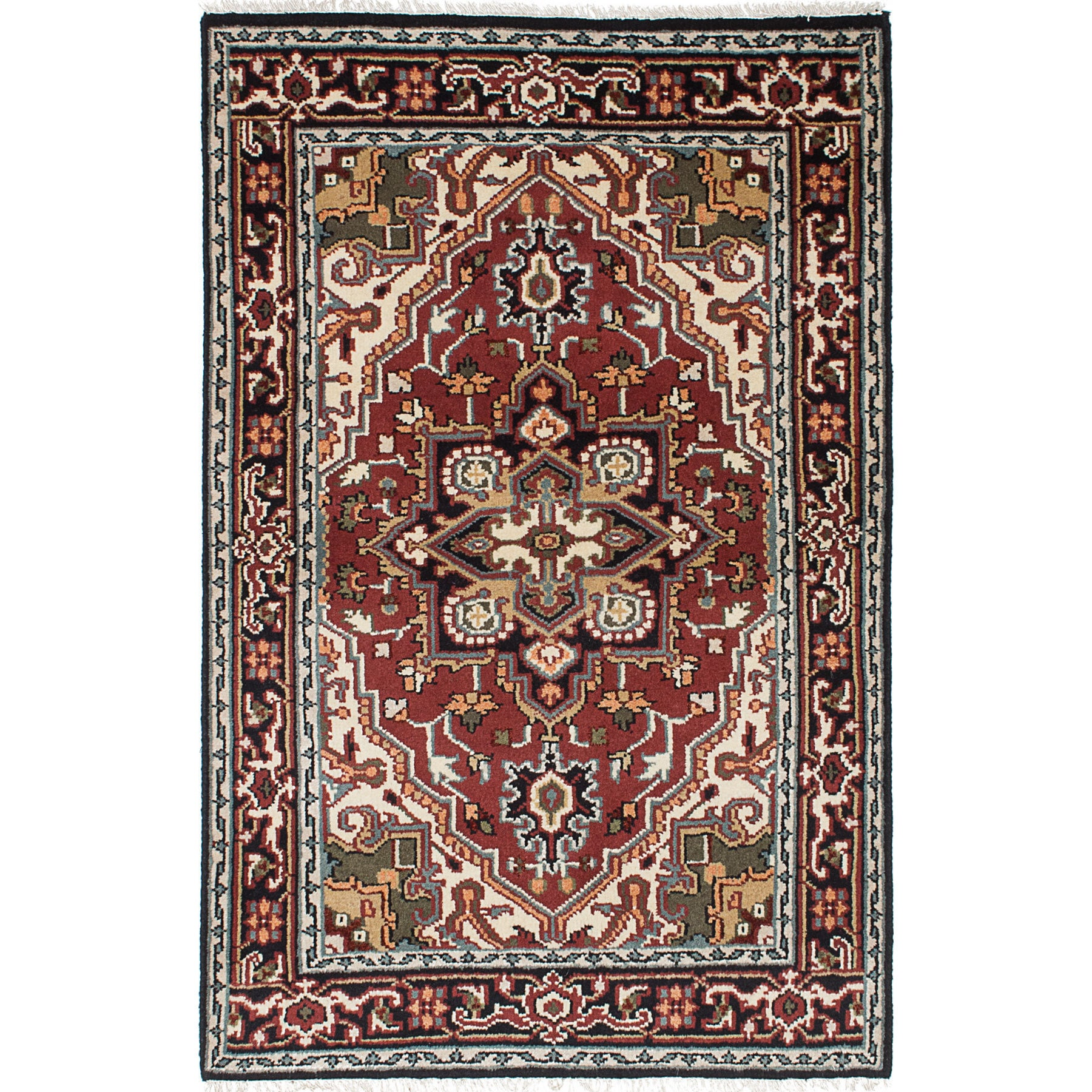 EcarpetGallery Royal Heriz Red Wool Hand-knotted Rug (3'11x6')