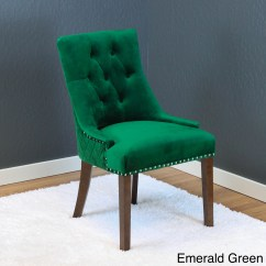 Green Velvet Tufted Chair Teen Bedroom Home Ideas