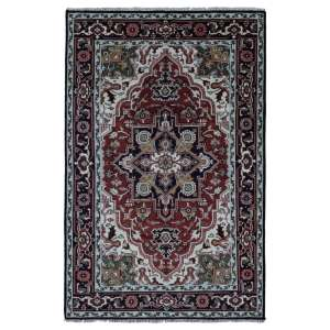 FineRugCollection Handmade Heriz Red Wool Oriental Rug
