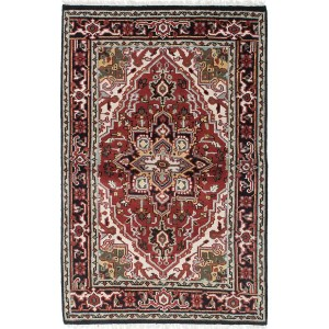 Ecarpetgallery Hand-knotted Royal Heriz Red Wool Rug (3'11 x 6'1)