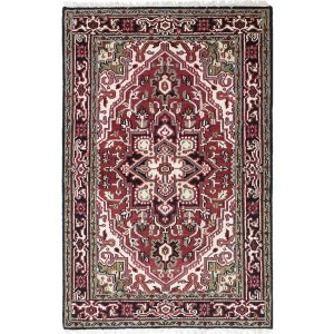 Ecarpetgallery Hand-knotted Royal Heriz Black, Red Wool Rug (3'11 x 6'0)