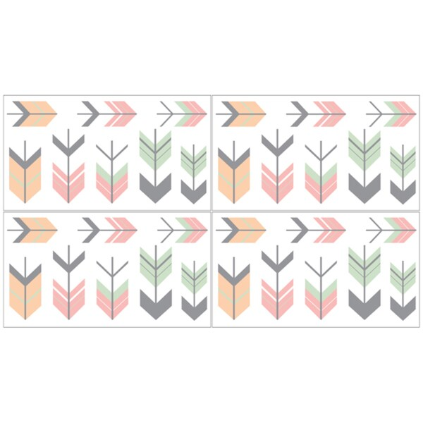shop sweet jojo designs mod arrow collection coral and mint peel and