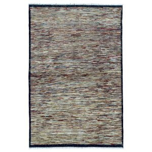 FineRugCollection Hand Made Modern Multi-Colored Wool Oriental Rug (4' x 5'10) - Multi