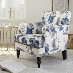 Fabric Living Room Chairs How To Decorate A With Fireplace In The Middle Buy Modern Contemporary Online At Overstock Com Boaz Floral Club Chair By Christopher Knight Home
