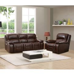 Power Recliner Sofa Canada Tufted Velvet Shop Hydeline By Amax Westminster Ii Top Grain Leather Brown Reclining And Set With