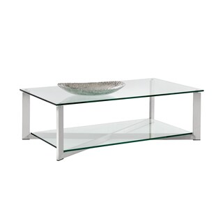 natal chrome and glass sofa table leather reclining in denver sunpan 'ikon' gotham polished steel coffee - free ...