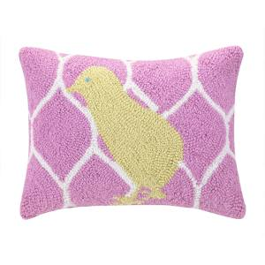Easter Chick Pink and Yellow Pillow