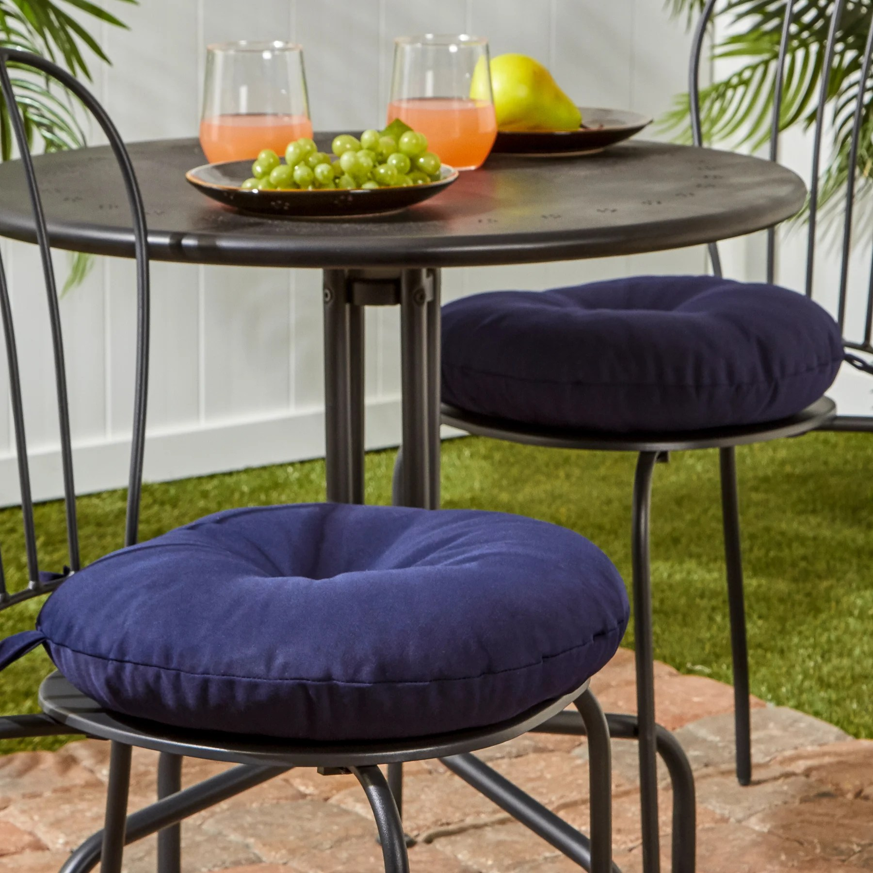 15 Inch Round Bistro Chair Cushions Outdoor Cushions And Pillows For Less Overstock