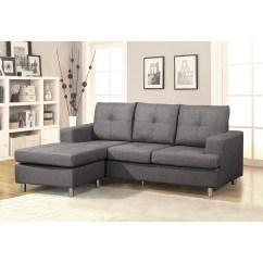 Buchanan Sofa With Chaise Longue Reversible Sectional Bobkona Hardin