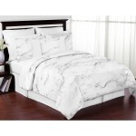 Sweet Jojo Designs Black And White Marble Collection 3 Piece Comforter Set Overstock 14680354