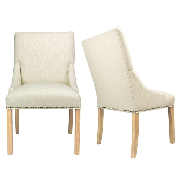 white upholstered chairs swivel leather shop marie off dining with wood legs set of 2 on sale free shipping today overstock com 14694423
