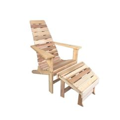 Unfinished Adirondack Chair Office Seat Covers Amazon Shop Cedar Newhope With Ottoman Amish Made