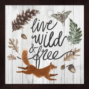 Sara Zieve Miller 'Live Wild and Free' Framed Art - Multi
