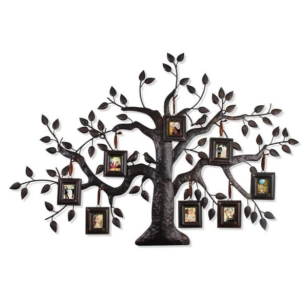 Shop Adeco Bronze Iron Metal Decorative Family Tree