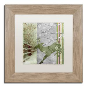 Color Bakery 'Country Xmas Deer' Matted Framed Art