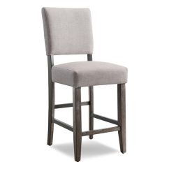 Upholstered Counter Height Chair Nichols And Stone Windsor Shop Heather Grey Stool Set Of 2 Free