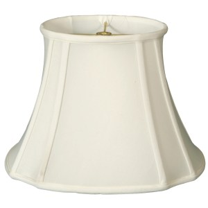 Royal Designs Oval Inverted Corner Lamp Shade, White, 11 x 9 x 19 x 16.5 x 13