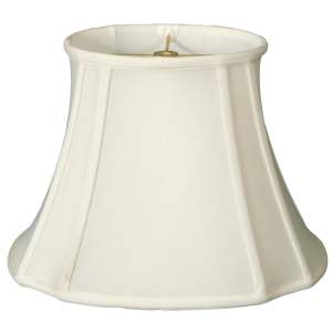 Royal Designs Oval Inverted Corner Lamp Shade, White, 7.75 x 10 x 14.74 x 17 x 11.75