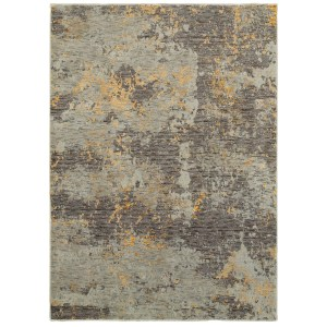 "Style Haven Marbled Stone Grey/Gold Area Rug (6'7 x 9'6) - 6'7"" x 9'6"""