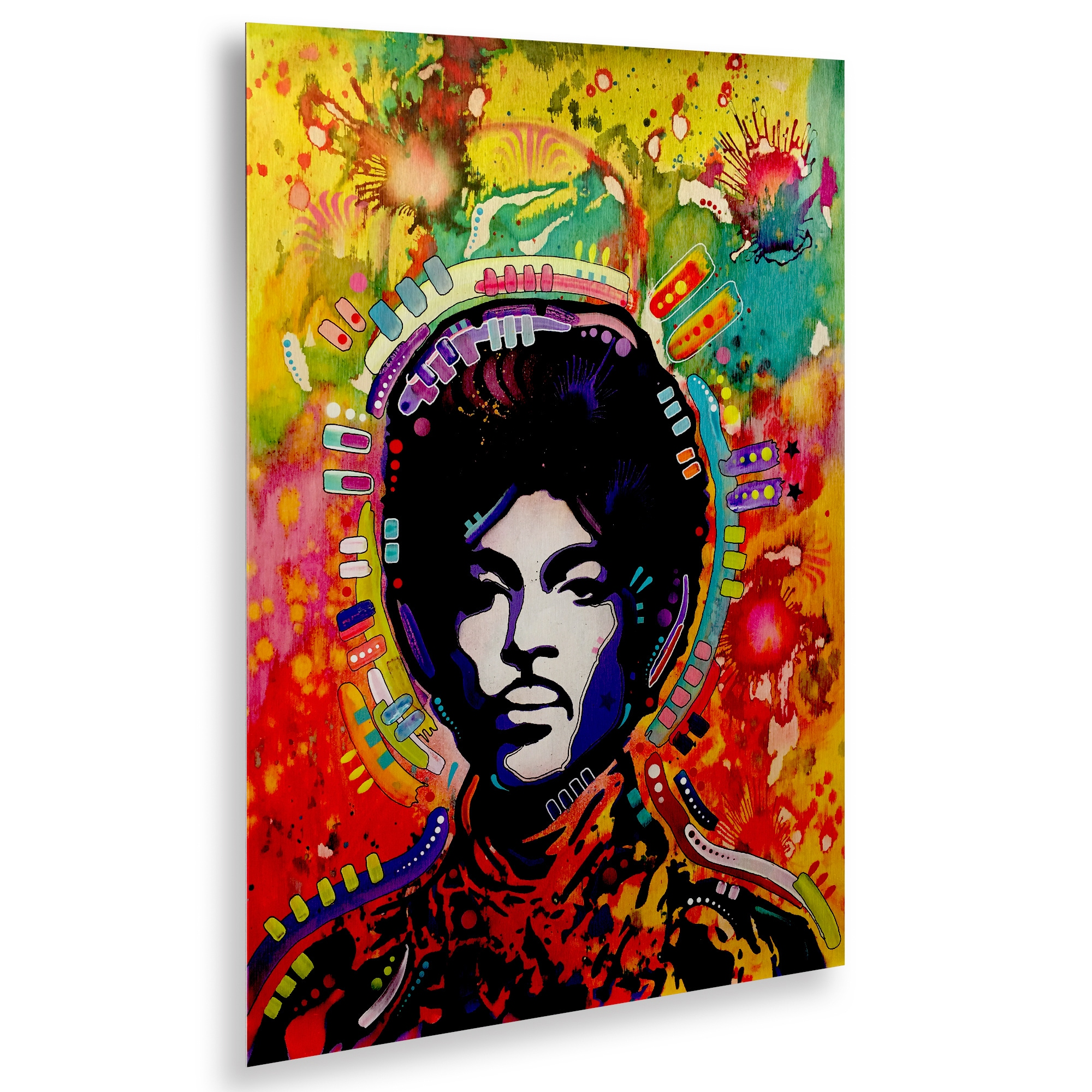 Dean Russo 'Prince' Floating Brushed Aluminum Art