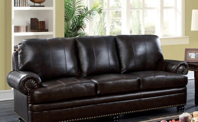 Shop Koda Traditional Dark Brown Match Sofa By Foa Free
