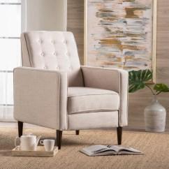 Reclining Club Chair Merax Hammock Dream Mervynn Mid Century Button Tufted Fabric Recliner