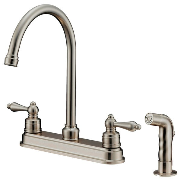 brushed nickel kitchen faucet with sprayer baby gate for shop lk8b shower free shipping today overstock com 15049984