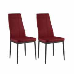 Fabric Side Chairs Sam Moore Chair Shop K And B Furniture Co Inc Red Set Of 4
