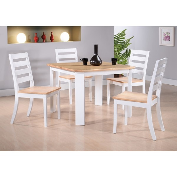 kitchen dinette set hotels with a shop k and b furniture co inc white natural wood side chairs