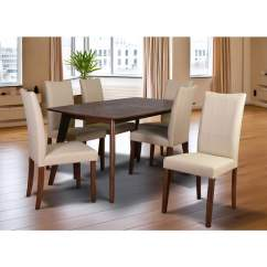 7 Piece Living Room Package Design Pictures Malaysia Shop Tatiana Mid Century Dining Set Cream Leather
