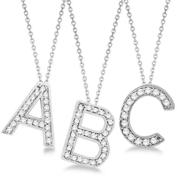 Shop 14k Gold Custom Tilted Diamond Block Letter Initial